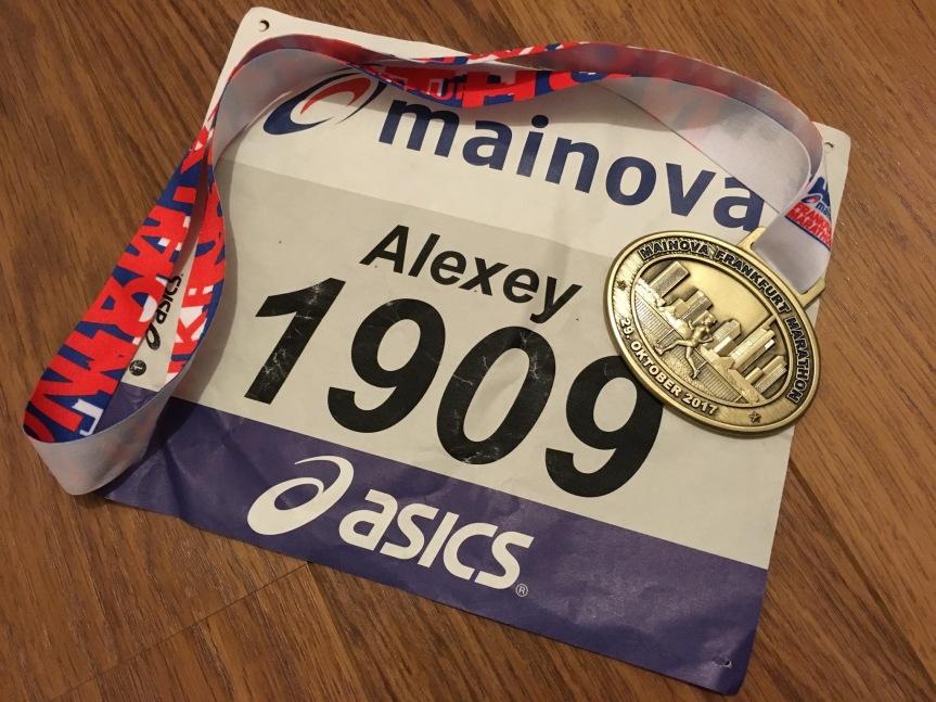 Marathon Frankfurt, 29 октября2017