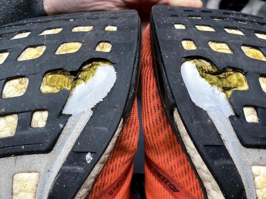 Кроссовки adidas Boston 8 после 1000 кмпробега